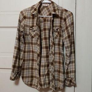 Long button up shirt